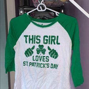 """This Girl Loves St.Patricks Day"" Cute Novelty Tee"